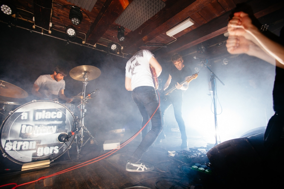 A Place To Bury Strangers performing at Loppen in Copenhagen