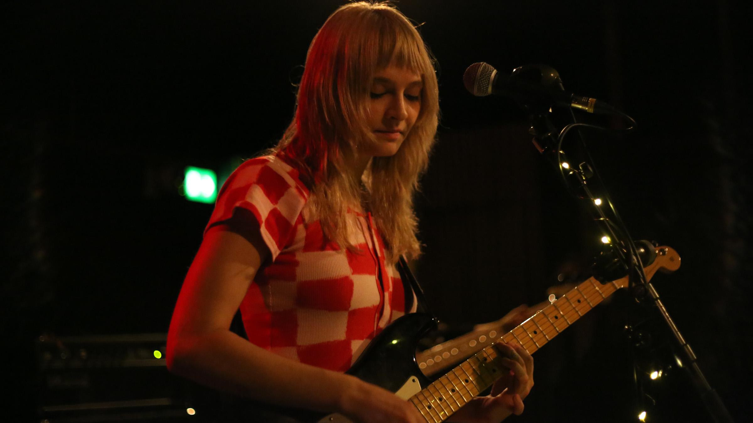 Clementine Creevy of Cherry Glazerr live at Ideal Bar in Copenhagen